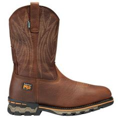 The Timberland PRO AG Boss work boots feature ultimate comfort, waterproof job site protection and Western-inspired styling. Pull On Work Boots, Steel Toe Work Boots, Timberland Pro, Cowboy Boots, Boss, Red, Ebay