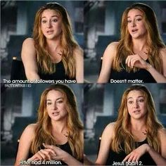 I find this really beautiful. It's so true, too. There really isn't many people like this anymore, but I'm so thankful that Shailene is. Shailene Woodley is such an inspiration to me and she's so amazing Great Quotes, Me Quotes, Funny Quotes, Inspirational Quotes, Actor Quotes, Funny Memes, Christian Memes, Christian Actors, So True
