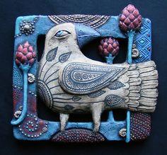 Art by Roman Khalilov Clay Birds, Ceramic Birds, Ceramic Animals, Ceramic Clay, Ceramic Pottery, Pottery Art, Clay Projects, Clay Crafts, Inchies