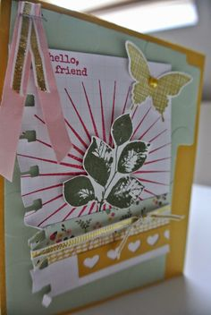Kinda Eclectic, Large Polka Dot, Heart Border punch, Spiral Border punch Stampin Up by Cards and Scrapping