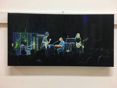Joanne Shaw Taylor. Oil on canvas. This was inspired by a gig at Manchester Academy