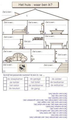 Oefening. Het huis : waar ben ik? Play School Activities, Learn Dutch, Live Life Love, Dutch Language, Spanish Classroom, Creative Teaching, Fun Learning, Vocabulary, Literacy