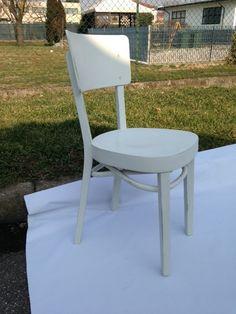 sedia in legno anni '60 restaurata e colorata in di Bucotarlo