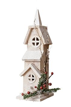 Birdhouses  Your Hearts Delight Snowy Church Birdhouse, 4-3/4 by 16-Inch Patio Makeover <3 This is an Amazon Associate's Pin. Click the image to visit the website.