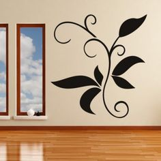 Decorative Branch Leaves Wall Art Sticker Wall Art Decals - Floral Designs - Floral & Trees - Home & Living