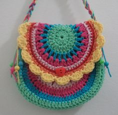Crocheted by me. (Pattern by Vendula Maderska) Available in different colours - on website or FB page. Crochet Hobo Bag, Crochet Pouch, Crochet Handbags, Crochet Purses, Crochet Doilies, Crochet For Kids, Crochet Baby, Free Crochet, Knit Crochet