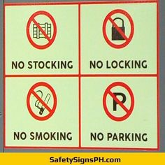 Our custom prohibition safety signs are a great solution for you! Philippines, Safety, Signs, Security Guard, Shop Signs, Sign
