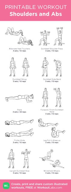 Shoulders and Abs: my custom printable workout by @WorkoutLabs #workoutlabs #customworkout