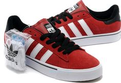 Adidas Originals Campus Vulc Low Suede Boys Causal Shoes G48532 Red White Black_0003.jpg (750×515)