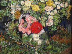 Flowers in a Vase / Vincent van Gogh - 1889