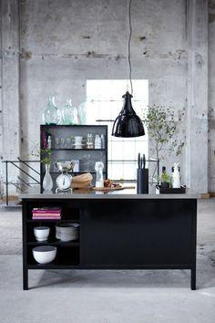 ¿Que te parece una cocina de color negro?