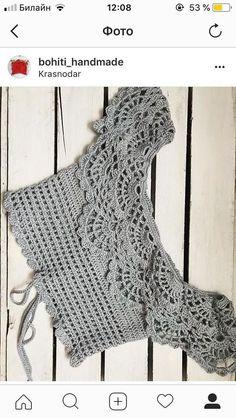 María Cielo: Crochet inspiración: top – Top Of The World Blouse Au Crochet, Crochet Lace Collar, Gilet Crochet, Crochet Crop Top, Crochet Cardigan, Lace Knitting, Crochet Shawl, Crochet Baby, Doilies Crochet