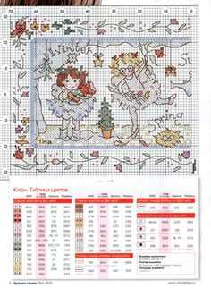 Season angels, part 1 Cross Stitch Fairy, Cross Stitch Angels, Cross Stitch For Kids, Mini Cross Stitch, Christmas Embroidery Patterns, Embroidery Stitches, Cross Stitch Designs, Cross Stitch Patterns, Pattern Books