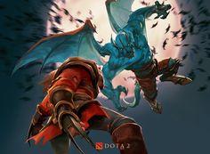 Lycan vs NightStalker, crow god on ArtStation at http://www.artstation.com/artwork/lycan-vs-nightstalker