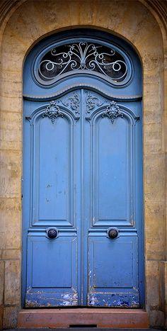 The blue door by srpphotography, via Flickr ~ Paris