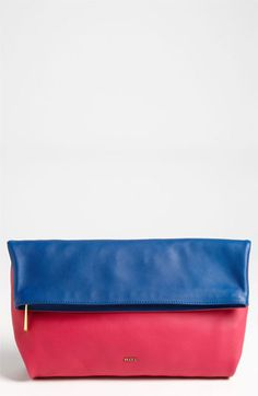 Emilio Pucci Softy - Bicolor Foldover Clutch available at #Nordstrom
