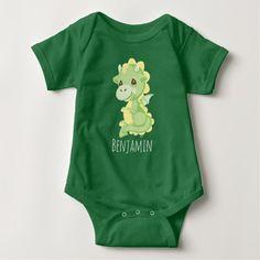 Precious Prince Dragon | Add Your Name Baby Bodysuit