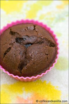 Dark Chocolate Muffins with a Surprise Inside
