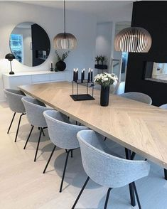 Elegant Dining Room Decor Ideas - Page 33 of 40 Elegant Dining Room, Luxury Dining Room, Dining Room Design, Dining Room Furniture, Modern Dining Rooms, Contemporary Dining Chairs, Living Rooms, Dining Room Inspiration, Home
