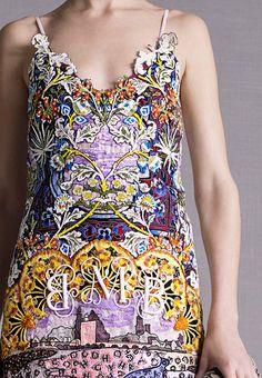 Mary KATRANTZOU - resort 2015 detail #fashion #prints #textiles