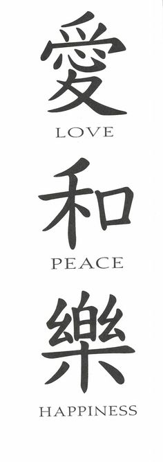 Chinese Symbols And Meaning Tattoos Pinterest Japanese Kanji