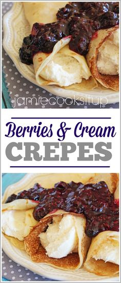 Are you a crepe fan? I sure hope so, because I've got a fabulous version to share with you today. A thin and dainty crepe is filled with a delicious cream cheese filling and topped with a hom…