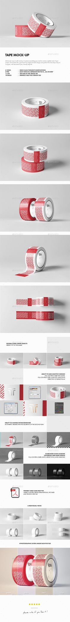 Duct Tape Mockup — Photoshop PSD #stationery #box • Available here → https://graphicriver.net/item/duct-tape-mockup/17899220?ref=pxcr