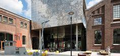 Gamle og nye fasader, HiB Foto: Trond Isaksen/ Statsbygg Arkitekt: HLM arkitektur og Cubo arkitekter