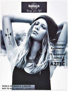 BeRock Tatouages éphémères Aztec sur shopstyle.fr