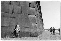 Henri Cartier-Bresson / SOVIET UNION. Leningrad. Peter and Paul's fortress on the Neva river. 1973.