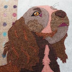 Cocker Spaniel Cushion Cocker Spaniel Pillow Pet Portrait   Etsy Handmade Cushion Covers, Handmade Cushions, Chocolate Cocker Spaniel, Dog Cushions, Embroidered Cushions, Gifts For My Sister, Dots Design, Jack Russell Terrier, Dog Portraits