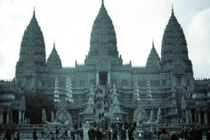 Reconstitution du Temple D'Angkor Vat (Cambodge) lors de l'exposition coloniale de 1931 - #Paris