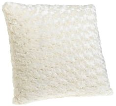 Brentwood Rosette 18-by-18-inch Knife Edge Decorative Pillow, Natural: Amazon.com: Home & Kitchen