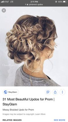 Coiffure de mariage 2017 – pretty-updo-hairstyle-for-prom… Curly Bun Hairstyles, Open Hairstyles, Elegant Hairstyles, Updo Hairstyle, Easy Homecoming Hairstyles, Fall Wedding Hairstyles, Curly Wedding Hair, Prom Hair, Medium Hair Styles