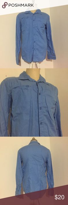 Joe's Button Down Love this color blue. Front pockets actual snap close. Casual long sleeve button down in a size M by Joe's. This shirt also has a linen feel to it. Joe's Jeans Shirts Casual Button Down Shirts