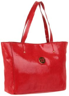 Tommy Hilfiger Th Enamel Logo East West Snake Tote,Red,One Size Tommy Hilfiger http://amzn.com/B0071H2QE8?tag=thep0658-20