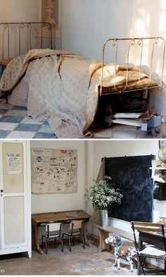 Old and worn furniture, vintage items, warm ambients. Milk Magazine 4 & The Selby 86 home via this pin