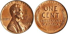 1958 Lincoln Cent Double Die Obverse PCGS MS64 Red sold for $336,000 at the Stack's Bowers Galleries Whitman Baltimore Expo Auction in Baltimore, Maryland, March 21-23, 2018...This is one of just three known examples of this variety; the other two are an MS64 Red and an MS65 Red.... Baltimore Maryland, Old Coins, March 21, Coin Collecting, Lincoln, Galleries, Auction, Money, Personalized Items