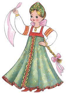 Рисовать русская девушка