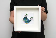 Unique Quilling Wall Art Cute Little Bird Framed Wall Decor Modern Home Decoration Paper Art Nursery Art Kids Room Etsy by PaperParadisePL