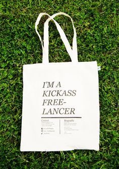 Self promotion with further use which will be seen by others not just the bags owner.
