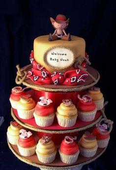 Cowboy Cake Cupcake Tower