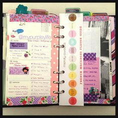 My Purpley Life: My Filofax Week #16 I like the page finder!