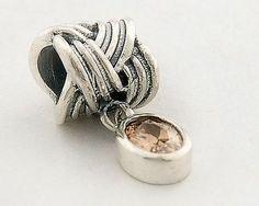 Black Friday Pandora Cheap Silver Dangle Charms Brown YB034B