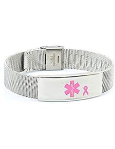 Breast Medical Bracelet Adjustable Stainless. ** Read more at the image link. (This is an affiliate link)