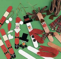 DIY popsicle stick ornaments, DIY christmas ornaments, crafting with popsicle sticks