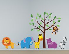 This custom fabric reusable jungle animals and tree wall decal set will be the perfect addition to any nursery or kids room. Each set will come in separate pieces so you are free to decorate your room as you wish with our custom fabric wall decals. Childrens Wall Decals, Vinyl Wall Decals, Custom Wall, Custom Fabric, Decorate Your Room, Jungle Animals, Tree Wall, Pattern Paper, Bedroom Wall