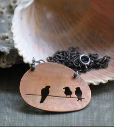Love this. :: Birds on a Wire Pendant Necklace by Metamorphosis Metals