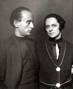 Lajos Kassák & Jolán Simon, 1927 by Rónai Dénes Rónai . Harlem Renaissance, New Objectivity, Amsterdam School, Magic Realism, Renoir, Cubism, Art Deco, Belle Epoque, Budapest