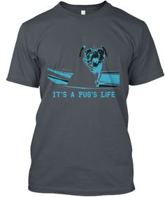 It's A Pug's Life Heavy Metal T-Shirt Front